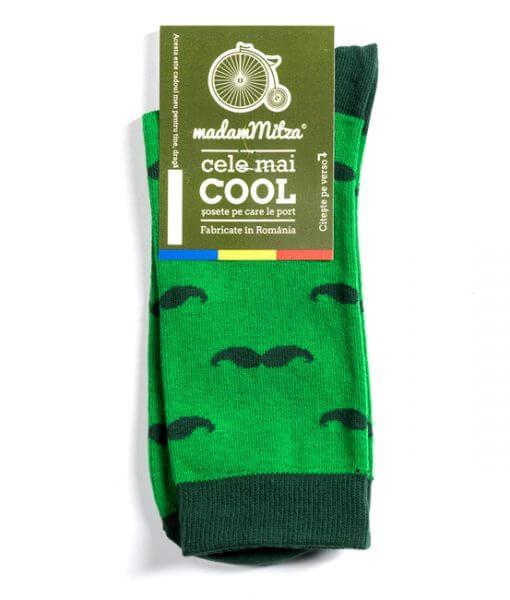 Sosete model Mustati, verde, barbati, femei