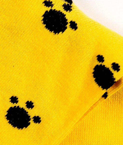 sosete copii labute de pisica galben si negru